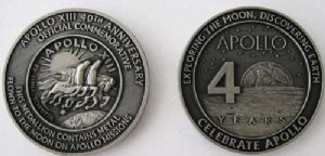 Apollo 13 40th Anniversary Medallion with Space Flown Metal